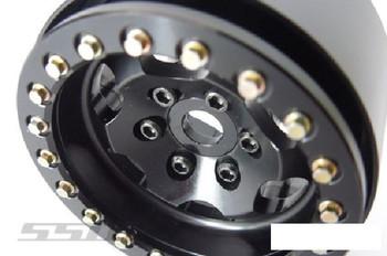 "SSD 1.9"" Rugged Beadlock Wheels BLACK SSD00322 6 spoke TRX-4 SSD-RC TRX4"