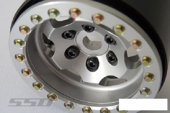"SSD 1.9"" Rugged Beadlock Wheels SILVER  SSD00324 6 spoke TRX-4 SSD-RC TRX4"