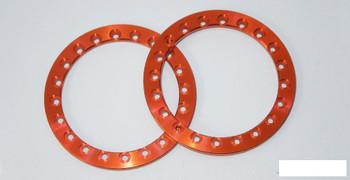 "SSD 1.9"" Orange Aluminum Beadlock Rings (2) SSD00356 for SSD-RC wheels"