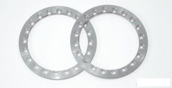 """SSD 1.9"""" Silver Aluminum Beadlock Rings (2) SSD00359 for SSD-RC wheels"""