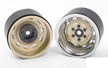 "Rally 1.9"" Beadlock Wheels GOLD Z-W0324 RC4WD inc Hubs & nuts 12mm Hex mount"