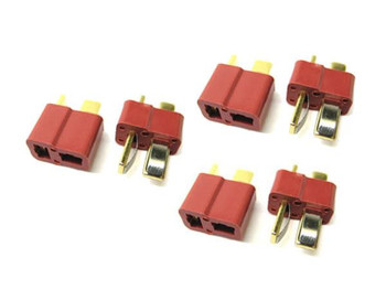 Etronix Deans Plugs 3x MALE 3x FEMALE ET0791 RC Connector Pair Plug Dean