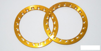 """SSD 1.9"""" Gold Aluminum Beadlock Rings (2) SSD00368 for SSD-RC wheels ring"""