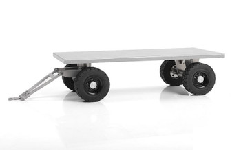 1/14 Forklift Trailer w/ Steering Axle VV-JD00037 RC4WD Metal Silver 231x106mm