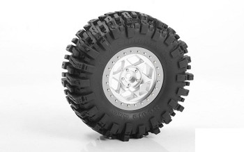 RC4WD Rogue 2.2 Beadlock Wheels Z-W0316 SILVER Star 6 spoke RR10 TRX-4