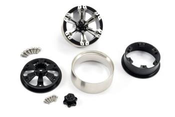 Fastrax 1.9  Heavy Duty Split 6-Spoke Alloy Beadlock Wheels (X2) FAST0145