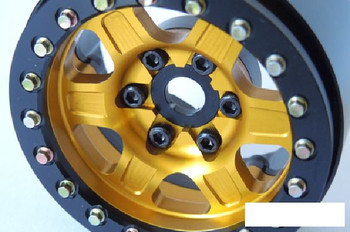 "SSD 1.9"" Challenger Beadlock Wheels GOLD YELLOW SSD00382 6 spoke 12mm Hex"