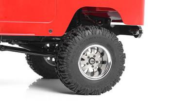 "1.9"" 5 Lug Steel Wheels w/ Chrome Beauty Ring SILVER Z-W0327 RC4WD 10 spoke"