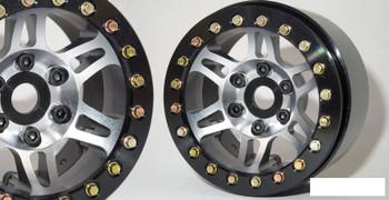 """SSD 1.9"""" Prospect Beadlock Wheels GREY SSD00386 6 multi spoke wheel TRX-4 72g"""