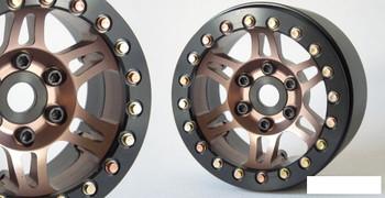 """SSD 1.9"""" Prospect Beadlock Wheels BRONZE SSD00383 6 multi spoke wheel TRX-4 72g"""