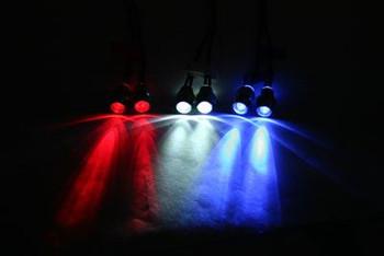 Fastrax White Headlights (pr) FAST199W 5mm LED light x2 8mm mount simple power
