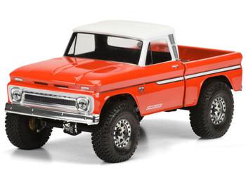 Proline 1966 Chevrolet C-10 Clear Body Cab + Bed SCX10 313mm PL3483-00