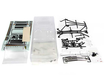 "1969 Chevy K5 Blazer Body .04 UNCUT CLEAR AX31554 Axial 12"" WB inc cage hardware"