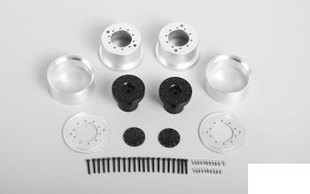 1.7 Aluminum Rear Beadlock Wheels for Overland Truck (2x) VVV-S0241 RC4WD