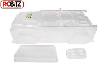 "DINGO Clear Body Axial SCX10 290mm 11.4"" Decals Light Buckets Land Rover AX4010"