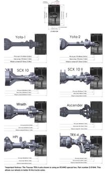 """RC4WD Enforcer 2.2"""" Beadlock Wheels Z-W0104 8 spoke TRX-4 SCX10 II TRX4"""