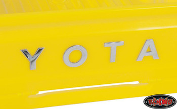 TOYOTA Lettering Kit for Mojave &Tamiya Hilux Tundra Bodies METAL Self adhesive