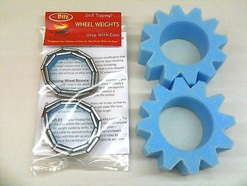 Wheel Weights & Star Cut Foam SET for 1.9 Wheels SCX10 Reduce Centre of Gravety