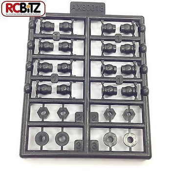 AX80018 Plastic Flanged Ball 3 x 5.8 x 7mm 16pcs Steering Knuckle Spacers