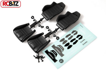 Corbeau LG1 Seat 1/10th BLAC 2 SEATS Fixings & Decals Wraith AX80090 Two Axial