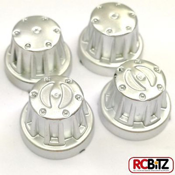Axial Scale Hub Cover Sets 4pc COLOUR CHOICE AX8079 Fits all SCX10 axles thread[CHROME AX8080]