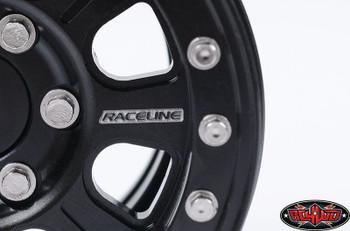 """RaceLine Monster 1.9"""" Beadlock Wheels BLACK 12mm hex scale Hardware RC4WD Z-W0185"""