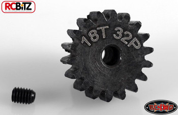 RC4WD 18t 32p Hardened Steel Pinion Gear with grub screw 3.2mm R3 AX2 Z-G0066