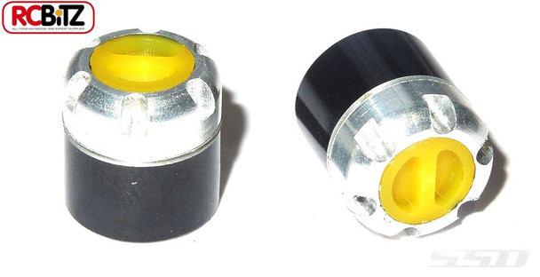 SSD Scale Locking Hubs only YELLOW Chevy SSD0014 replace wheel nuts TOOL NEEDED