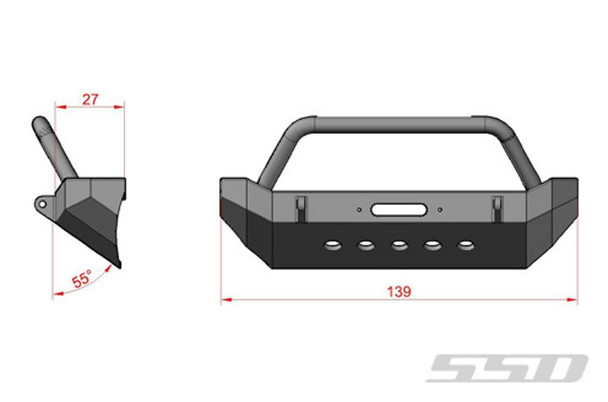 Rock Shield Front Bumper for Axial SCX10 Jeep etc With WINCH mounting SSD0012