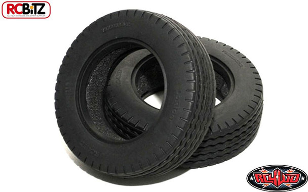 """2 LoRider 1.7"""" Commercial Semi Truck Tire 14th Tyre Tamiya Lorry RC4WD Z-T0066 Low Rider"""