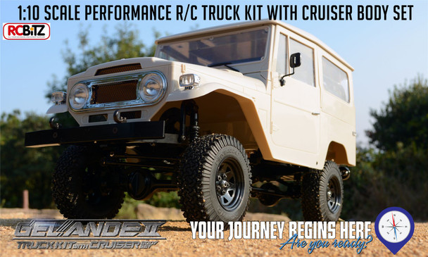 Gelande II Truck KIT Toyota CRUISER HARD Body Detail Interior FJ40 RC4WD Z-K0051