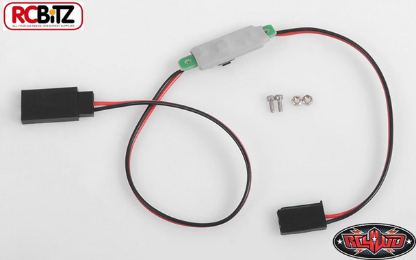 RC4WD Mini ON OFF Switch For Lighting Unit Bars Receiver Plugs 12' Z-E0081 11.1v