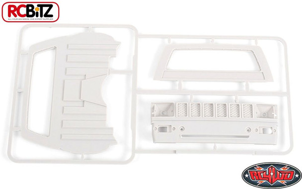 RC4WD Mojave II Cab Back Panels and Grill Parts Tree Primer Gray Z-B0074 TF2