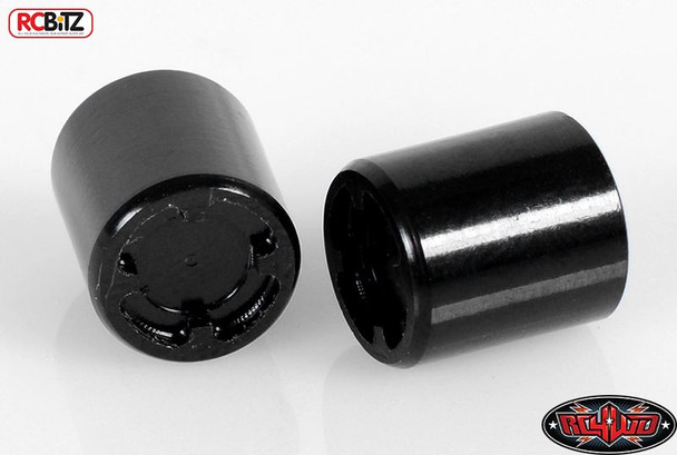 Scale Rear Hubs V2 Pair BLACK metal Replaces wheel nut RC4WD Z-S1266 RC Bitz
