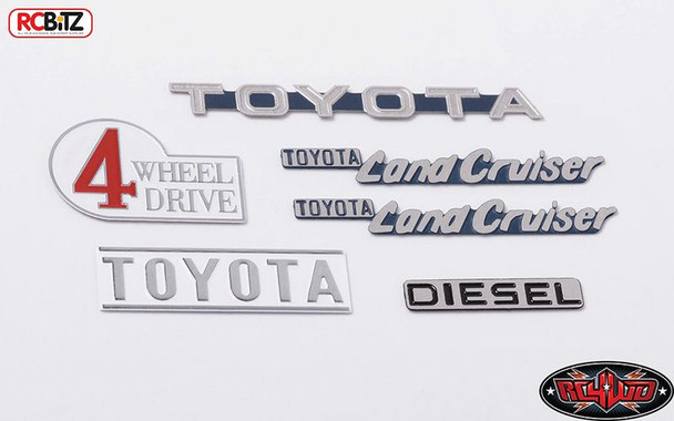 TOY Cruiser Body Emblem Set for Gelande II G2 Stainless RC4WD Z-S1714 RC
