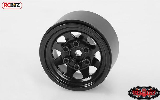 "Stamped Steel 1.0"" Stock Beadlock Wheels BLACK Micro D90 G2 RC4WD Z-W0229 RC"