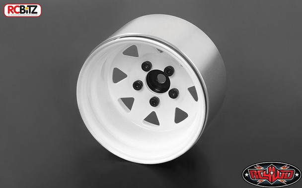 "5 Lug Deep Dish Wagon 1.9"" Steel Stamped Beadlock Wheels WHITE RC4WD Z-W0242"