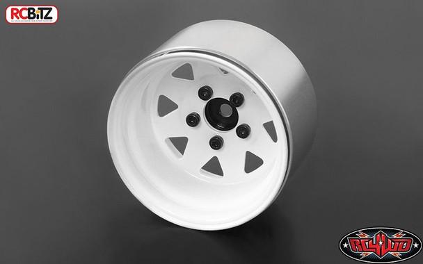 "5 Lug Deep Dish Wagon 1.9"" Steel Stamped Beadlock Wheels WHITE RC4WD Z-W0242"
