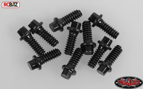 RC4WD Miniature Scale Hex Bolts M1.6 x 4mm BLACK Z-S1614 Fit wheels D44 Diff RC