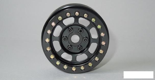 """1.9"""" Steel Scale Trail Beadlock Wheels BLACK 12mm Hex SSD00076 Wheel 1.9 SSD"""
