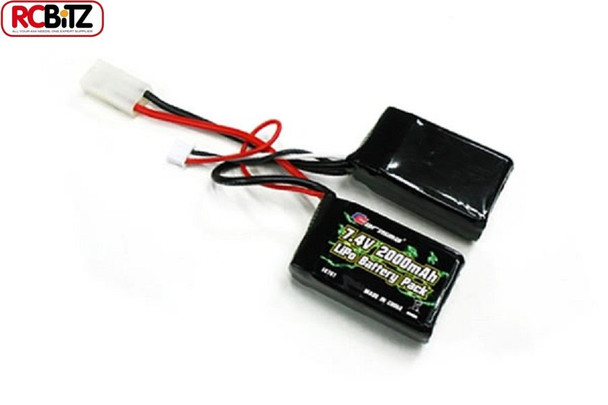 Carisma LiPo Saddle Battery for GT14B 7.4v 2000mah CA14761 2S