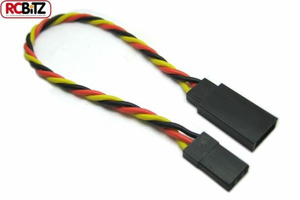 Etronix JR Receiver Twisted Extension Wire Servo ESC Lead Cable 10 cm ET0732 RC