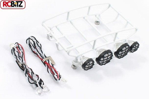 Fastrax Rounded RETRO Luggage Tray 4 Lights WHITE FAST308-SW rack Small FTX