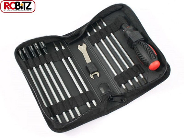 FASTRAX 19 in 1 RC Tool bag set METRIC Slot PH 6 Hex 4 Nut 5 8mm Spanner FAST607