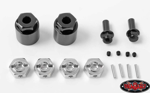 Rear Wheel Adapters to run STANDARD 12mm Hex Whels 1/10 Axial Yeti RC4WD Z-S1604