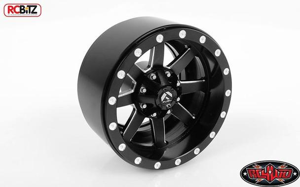 "RC4WD Fuel Offroad Maverick 1.9"" Scale Beadlock Wheels Z-W0200 BLACK RC D90"