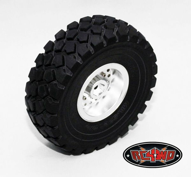 RC4WD 2.2 Militants Detailed Wheels Front  1 PAIR Truck Lorry SILVER HEX mount