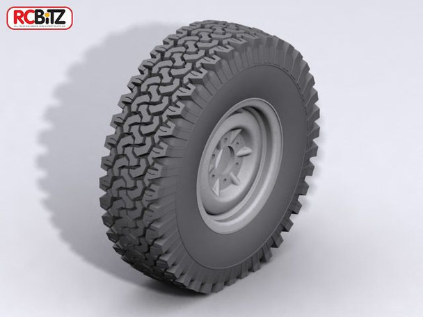 """Dirt Grabber 1.9"""" Scale Tires PREFECT for trailer scale tyre fit D90 Mojave TF2"""