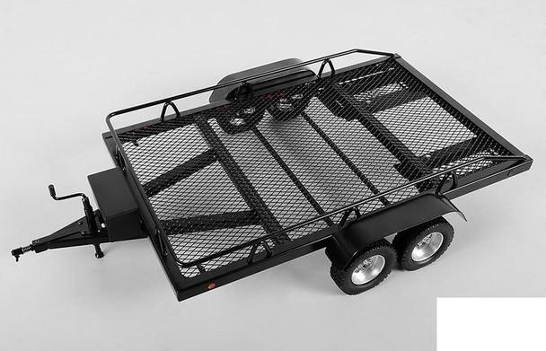 BigDog 1/8 Dual Axle Scale Car Truck Trailer METAL Z-H0004 RC4WD 8th Lights RC