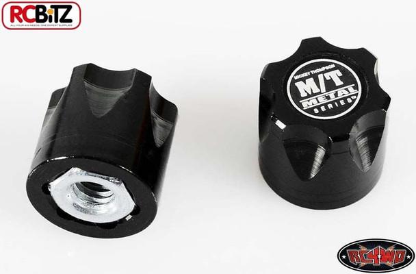 RC4WD Mickey Thompson Metal Series Wheel Center Caps 2 Hubs Hub BLACK Z-S0850